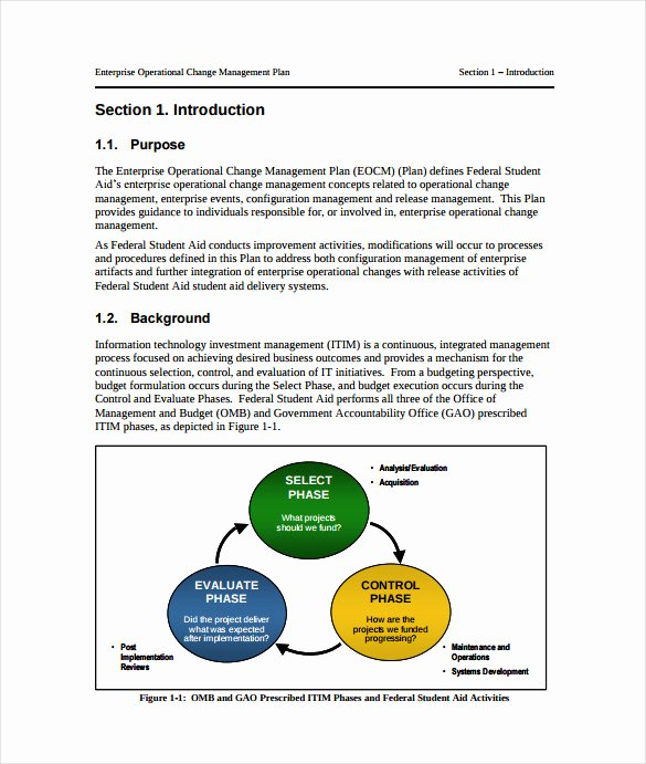 Change Management Planning Template Elegant 11 Change Management Plan Templates Free Sample