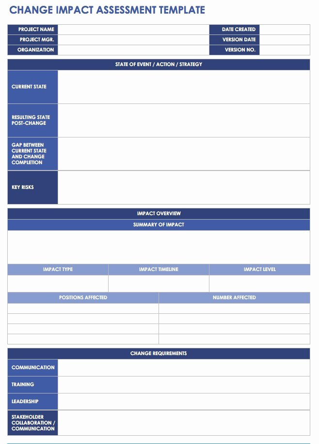 Change Management Planning Template New Free Change Management Templates