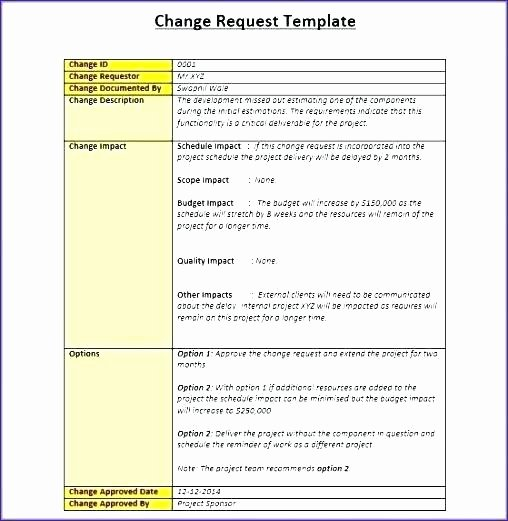 Change Management Process Template Inspirational Change Management Process Template Change Management