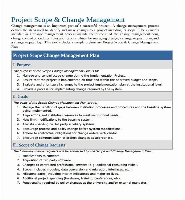 Change Management Process Template Unique 12 Change Management Plan Templates