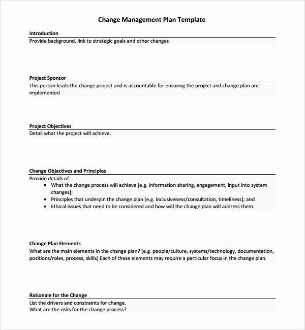 Change Management Strategy Template Elegant 12 Change Management Plan Templates