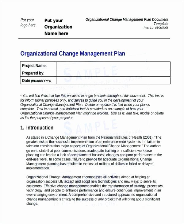 Change Management Strategy Template Luxury Change Management Plan Examples Strategy Templates