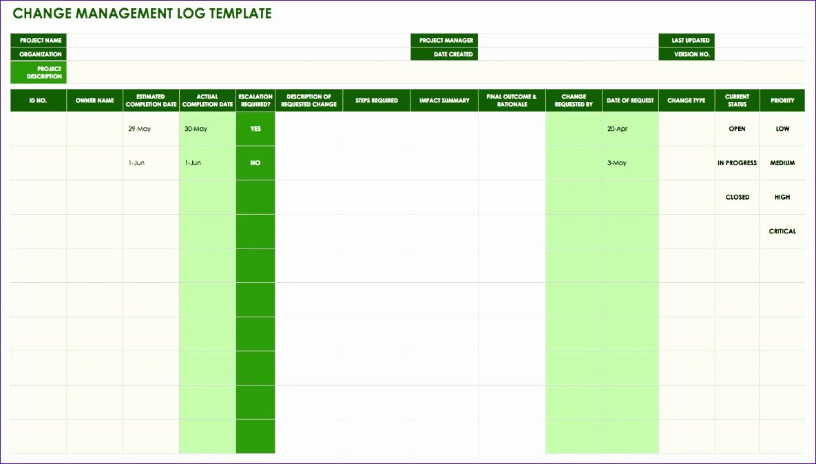 Change Management Template Excel Lovely 10 Change Control Template Excel Exceltemplates