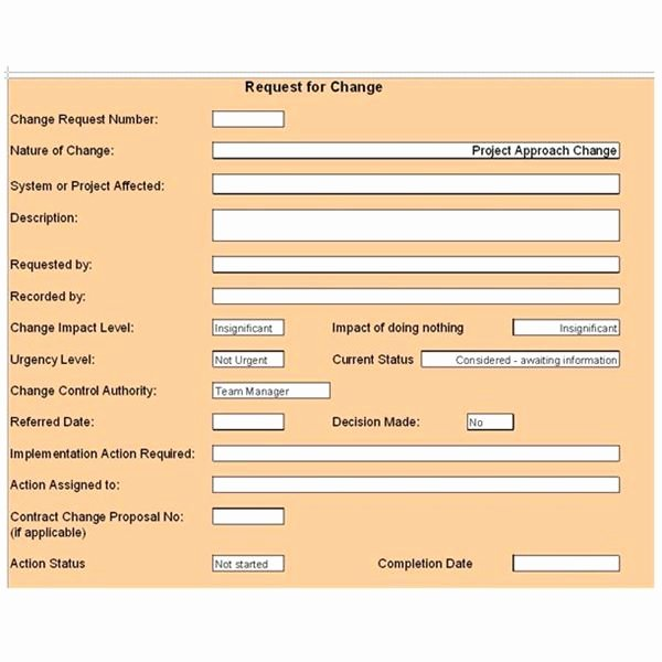 Change Management Template Excel Unique Free Change Control Template Download & Customize for