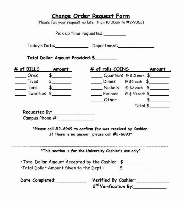 Change order forms Template Elegant 11 Change order Samples