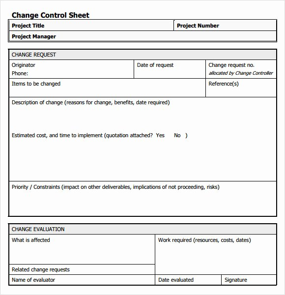 Change order forms Template Elegant 8 Change Request Samples