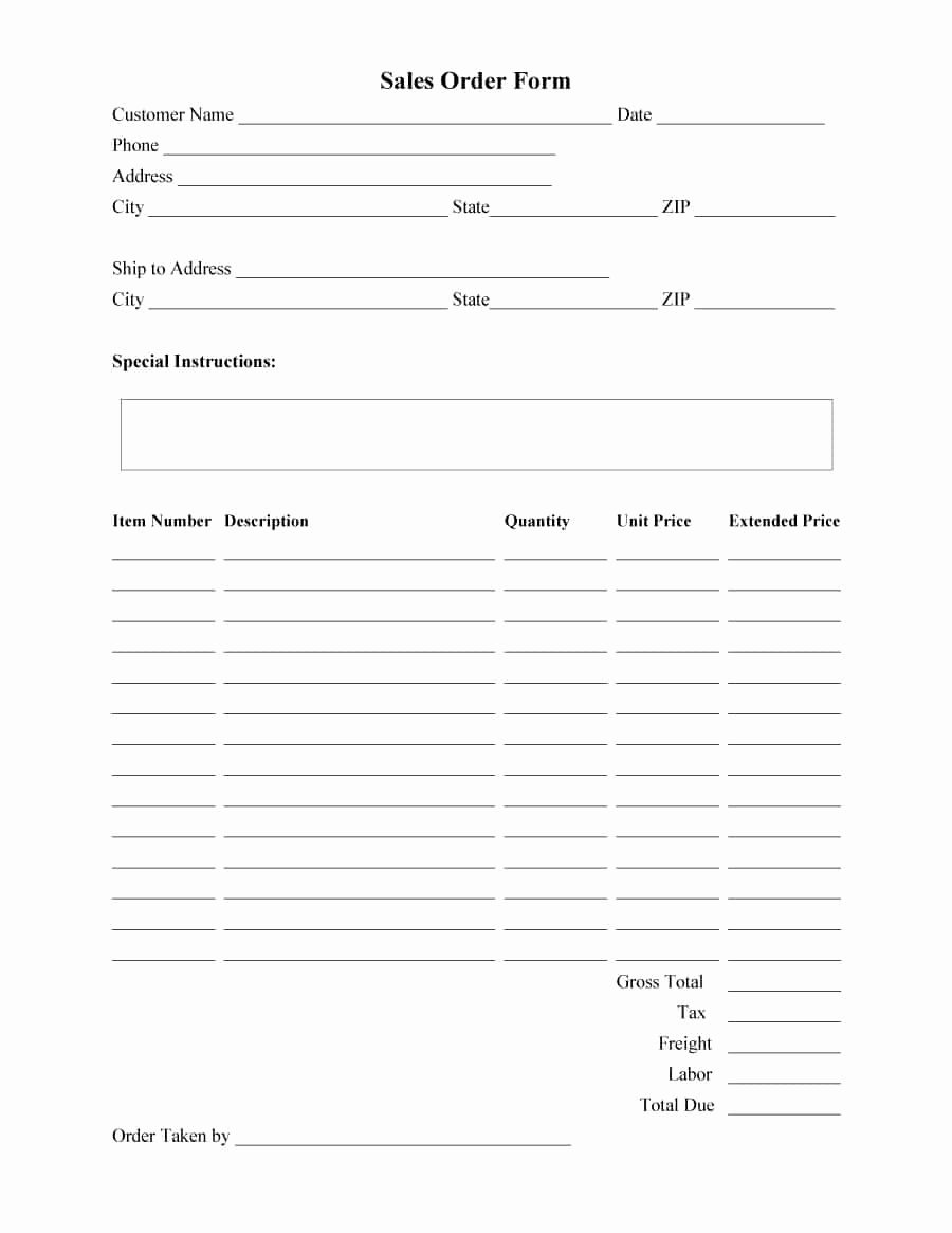 Change order forms Template New 40 order form Templates [work order Change order More]