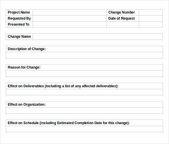 Change order Request Template Unique 11 Change order Templates to Download