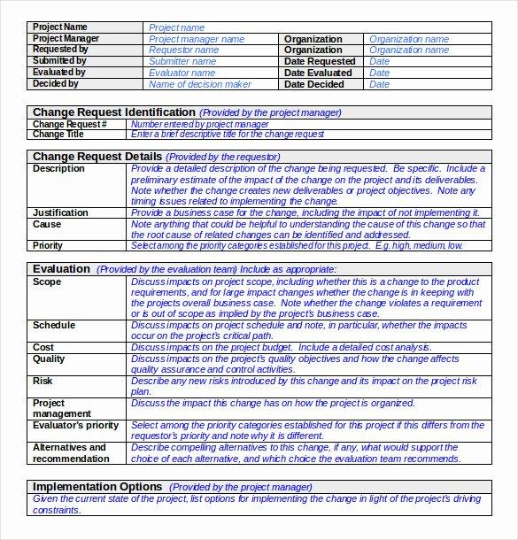 Change order Template Excel Elegant 24 Change order Templates Pdf Doc