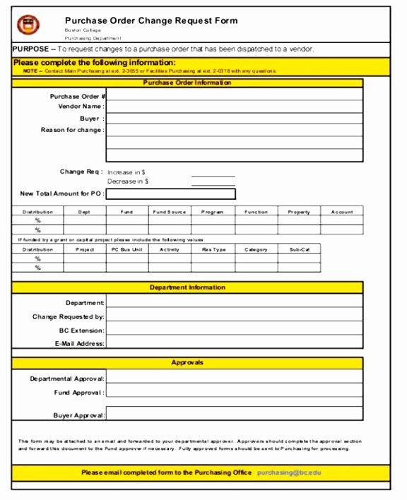 Change order Template Excel Elegant 7 Bank Change order form Template Taeew