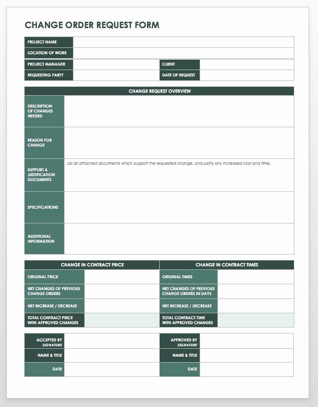 free work order templates