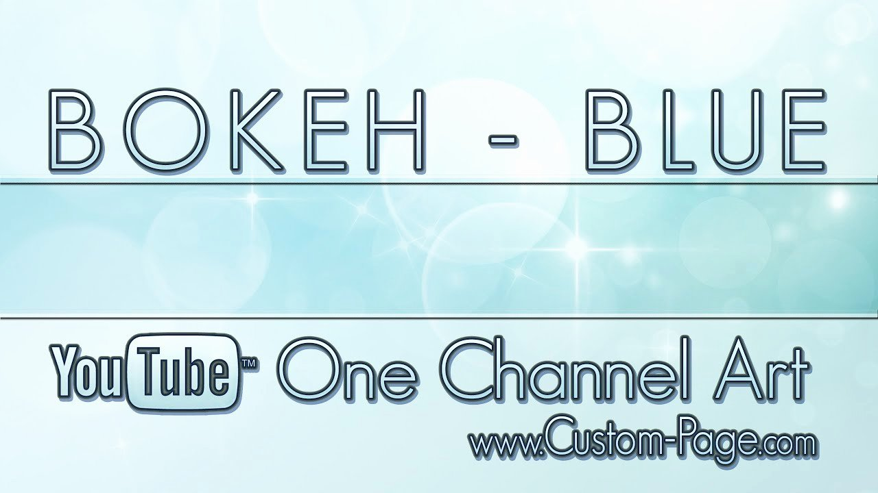 Channel Art Template Photoshop Awesome Bokeh Blue Channel Art Template Shop Psd