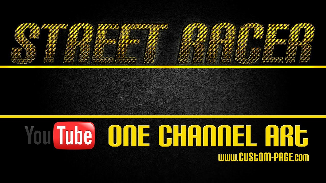 Channel Art Template Photoshop Awesome Street Racer E Channel Art Template Shop