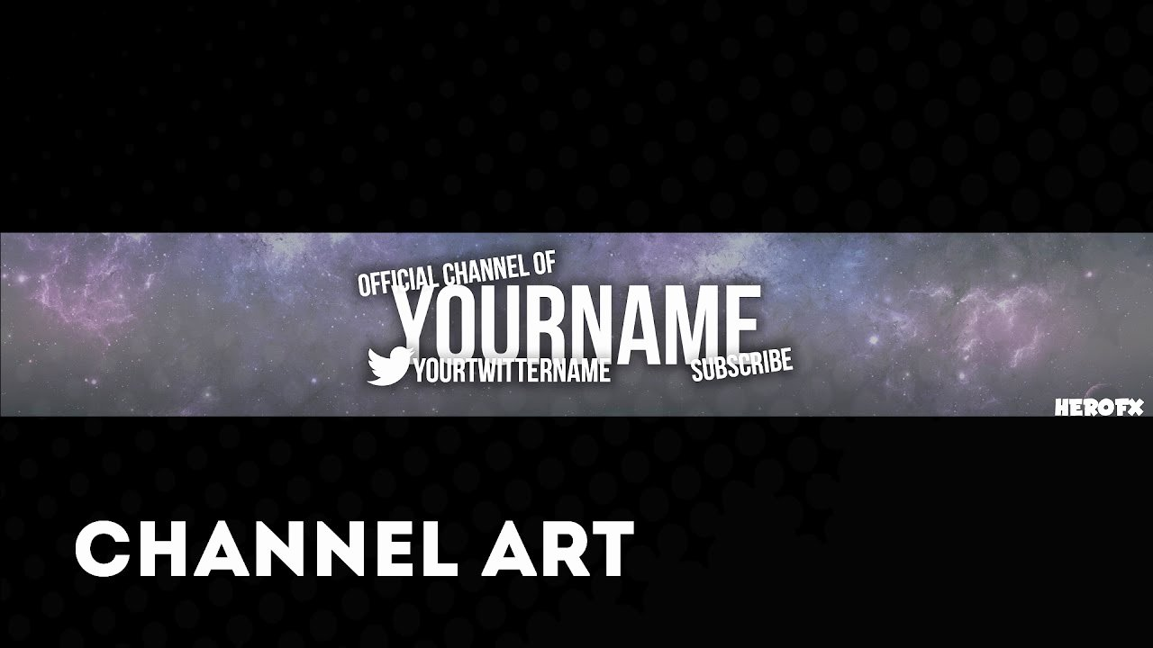 Channel Art Template Photoshop Beautiful Simple Channel Art Template 1 Free Shop Download