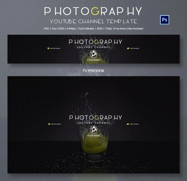 Channel Art Template Photoshop Best Of 47 Banner Templates Psd