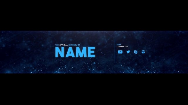 Channel Art Template Photoshop Elegant Youtube Channel Art Banner Template Psd Download