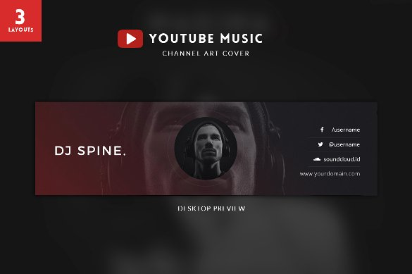 Channel Art Template Photoshop Luxury Youtube Channel Art Template Psd