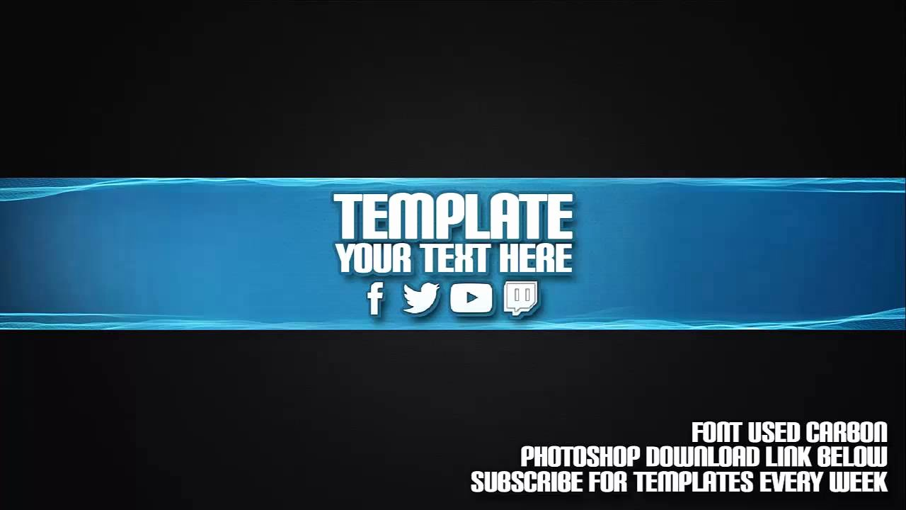 Channel Art Template Photoshop New Cool Channel Art Template 19 Free Shop Download