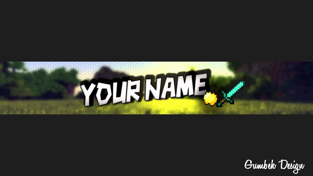 Channel Art Template Photoshop Unique Minecraft Channel Art Template 4 Free Shop