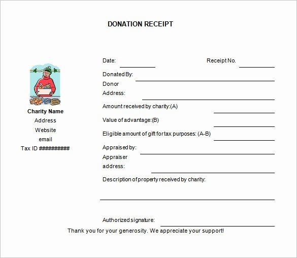 Charitable Donation form Template Best Of 10 Donation Receipt Templates Doc Pdf