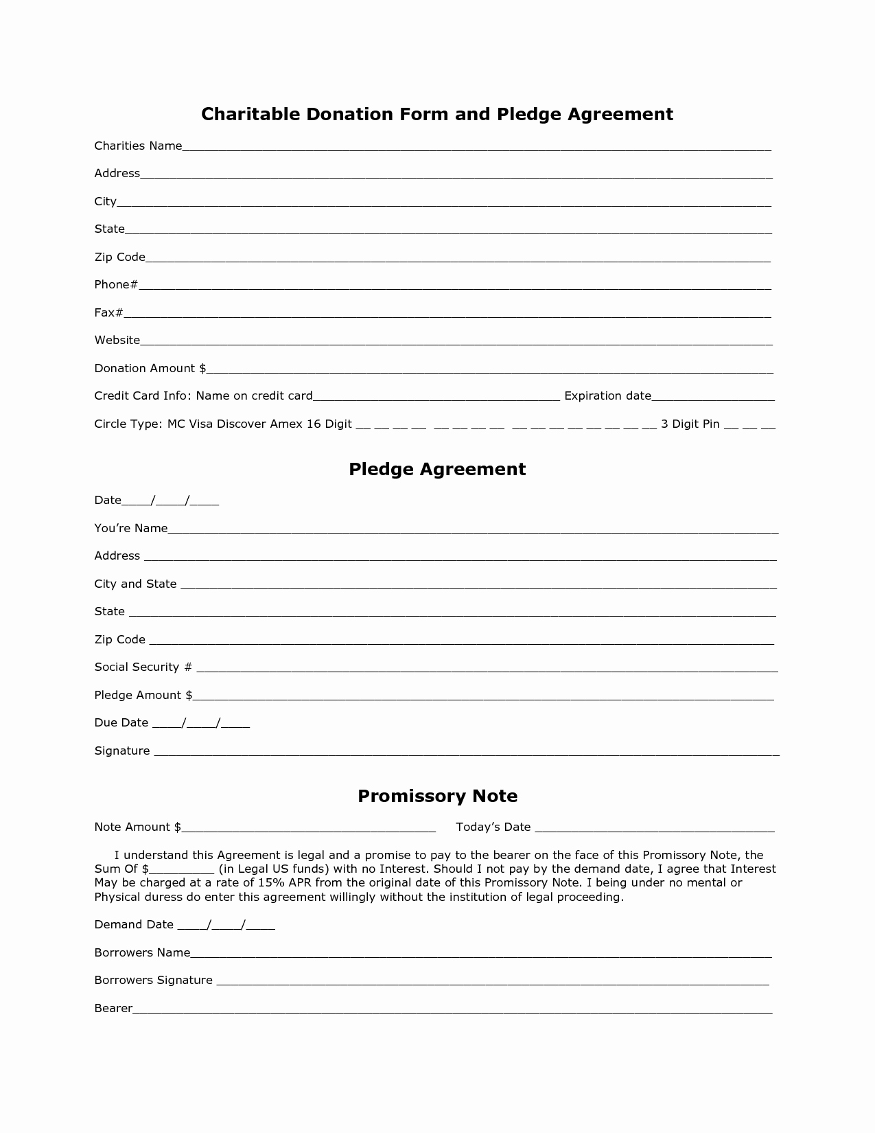 Charitable Donation form Template Elegant Charity Donation form Template Free Printable Documents