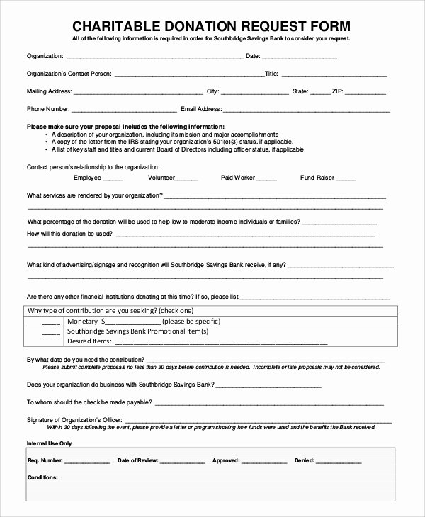 Charitable Donation form Template Fresh 10 Sample Donation Request forms – Pdf Word