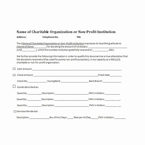 Charitable Donation form Template Inspirational Charitable Donation Receipts Requirements as Supporting