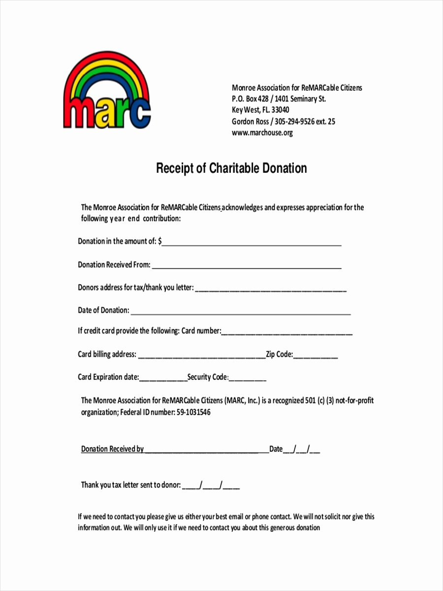 Charitable Donation form Template New 9 Donation Receipt Examples & Samples Pdf Word Pages