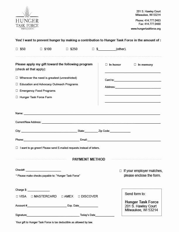 Charitable Donation form Template Unique 6 Charitable Donation form Templates formats Examples