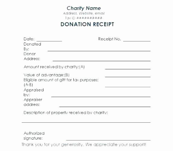 Charitable Donation form Template Unique Charitable Donation Letter Template Contribution for