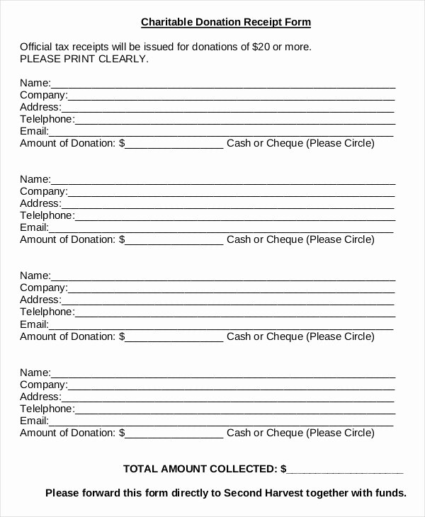 Charitable Donation form Template Unique Donation Sheet Template 4 Free Pdf Documents Download
