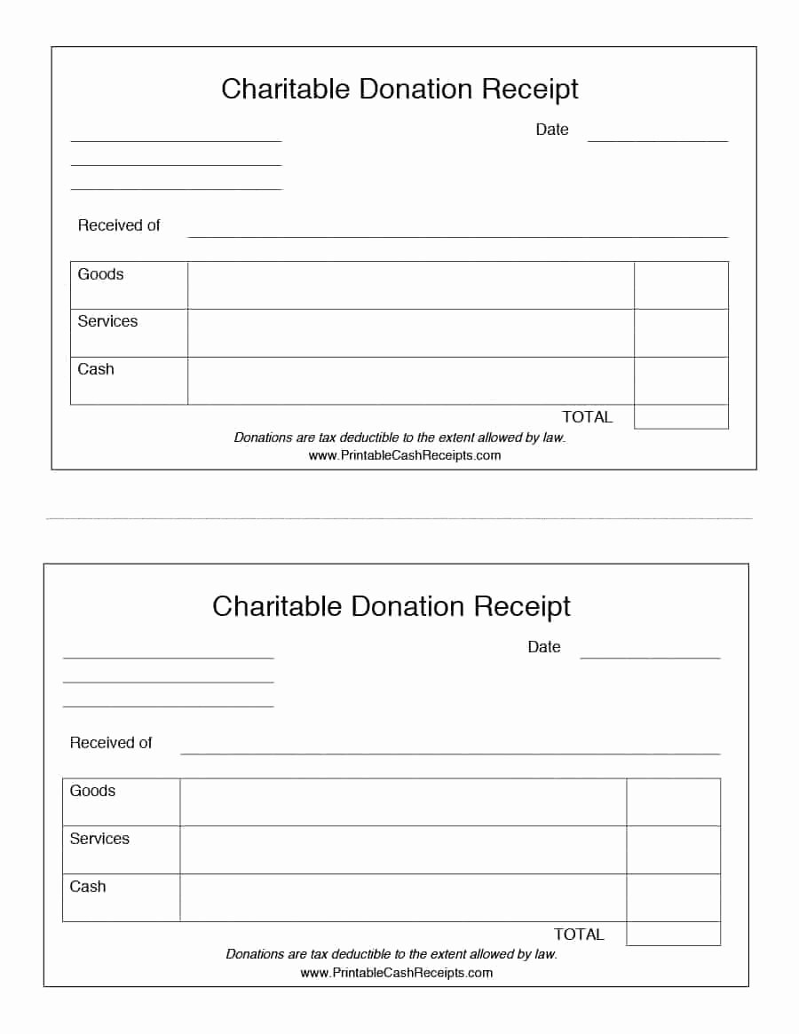 Charitable Donation Receipt Template Awesome 40 Donation Receipt Templates & Letters [goodwill Non