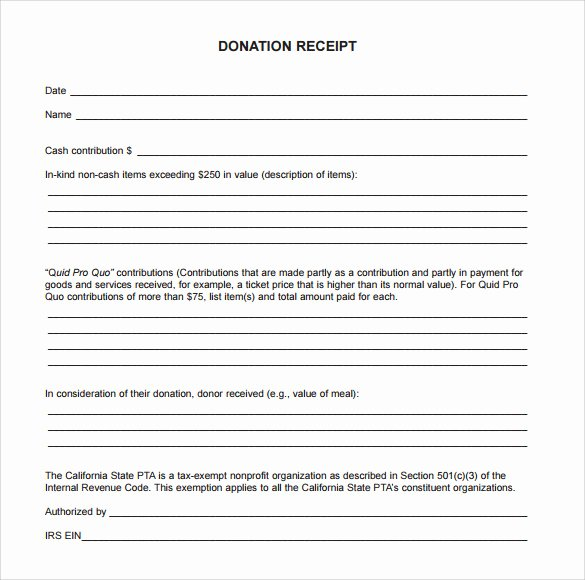 Charitable Donation Receipt Template Fresh 23 Donation Receipt Templates – Pdf Word Excel Pages
