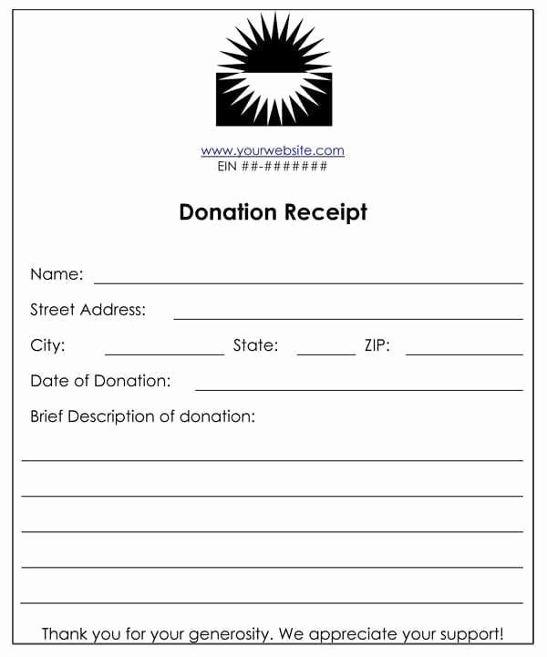 Charitable Donation Receipt Template Luxury 6 Cash Funds Donation Receipt Templates – Word Templates