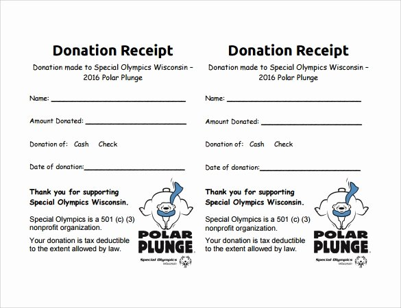 Charitable Donation Receipt Template Unique 10 Donation Receipt Templates – Free Samples Examples