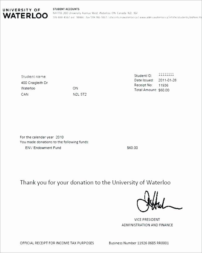 Charitable Donation Receipt Template Unique Charity Donation Receipt Receipt for Charitable Donation