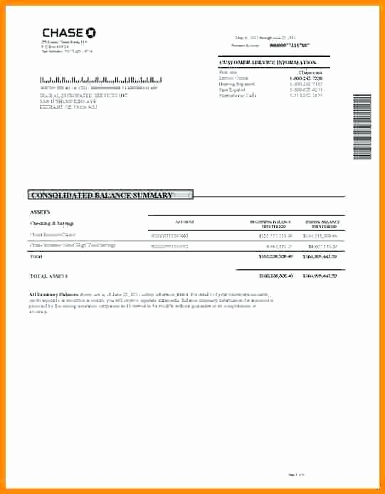 Chase Bank Statement Template Lovely Fresh Chase Bank Statement Line Template 27 Fake Chase
