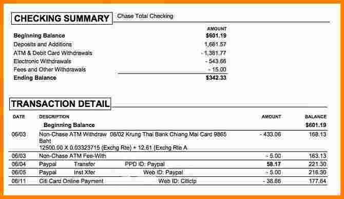Chase Bank Statement Template Luxury 10 What Does A Chase Bank Statement Look Like