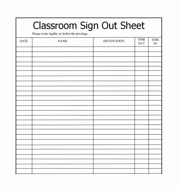 Check Out Sheet Template New Check In Check Out Sheet Template Vehicle Check Out Sheet