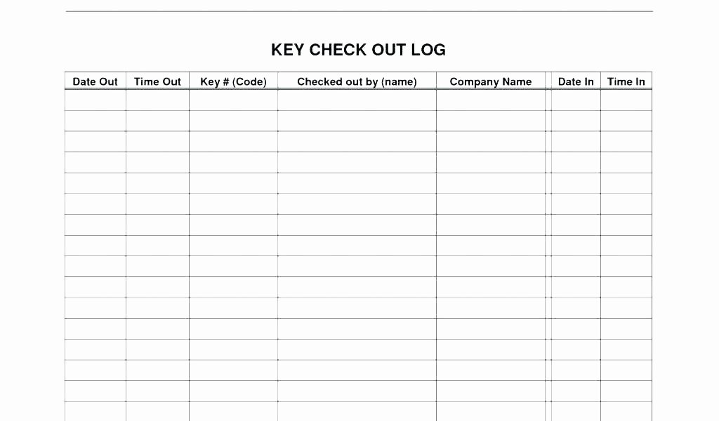 Check Out Sheet Template Unique Inventory Sign Out Sheet Template Awesome Check Beautiful