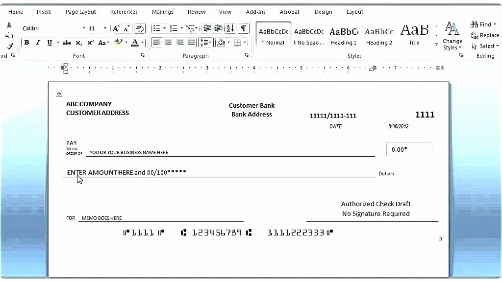 Check Printing Template Excel Beautiful Check Printing Templates Cheque Sample In Excel Template