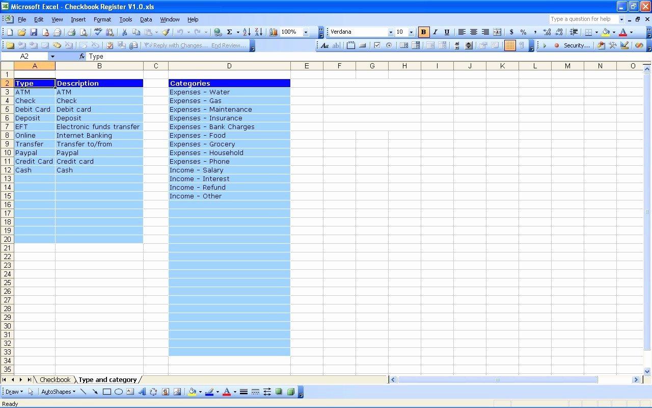 Check Register Template Excel Inspirational Checkbook Register Worksheet Free Line Check Register