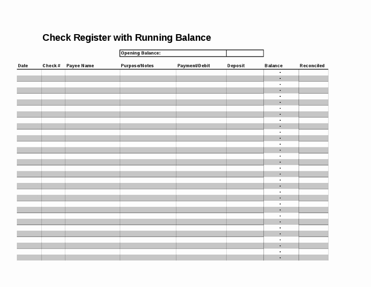Check Register Template Excel Luxury 4 Check Register Templates Excel Xlts