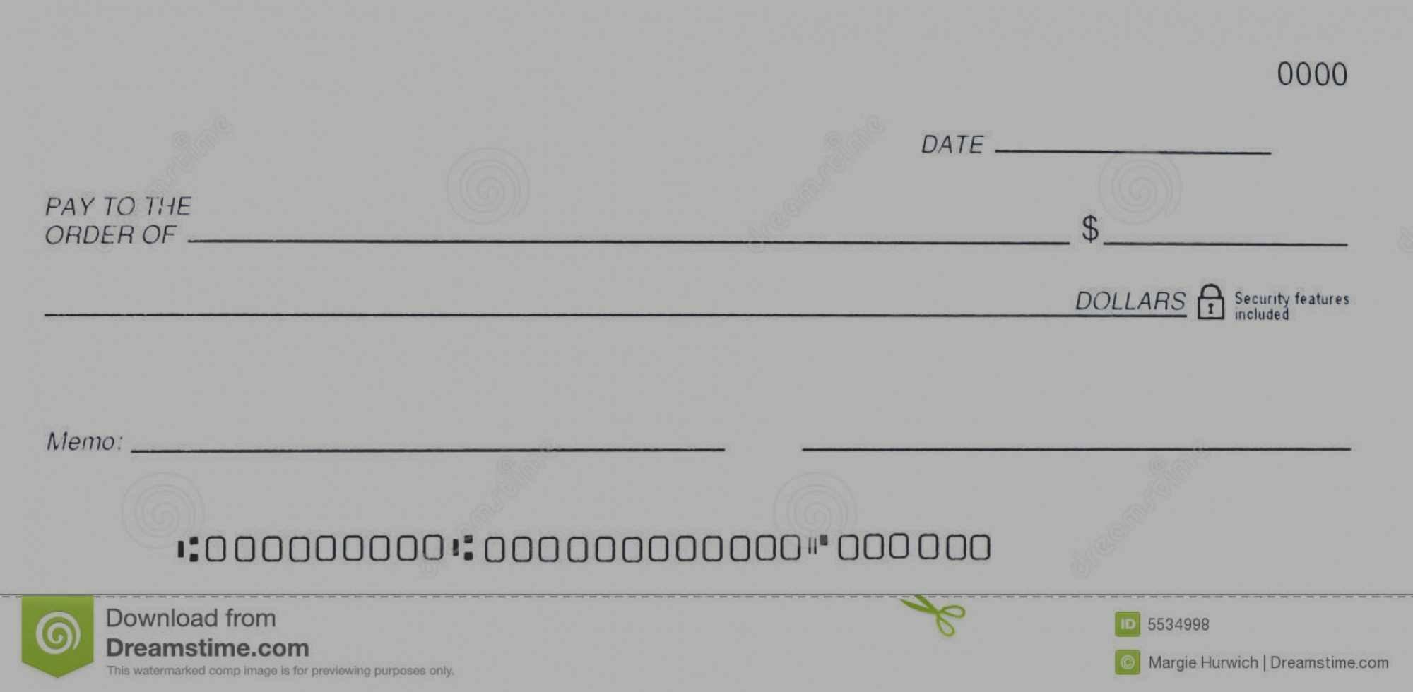 Check Template for Word Luxury New Fillable Blank Check Template Word