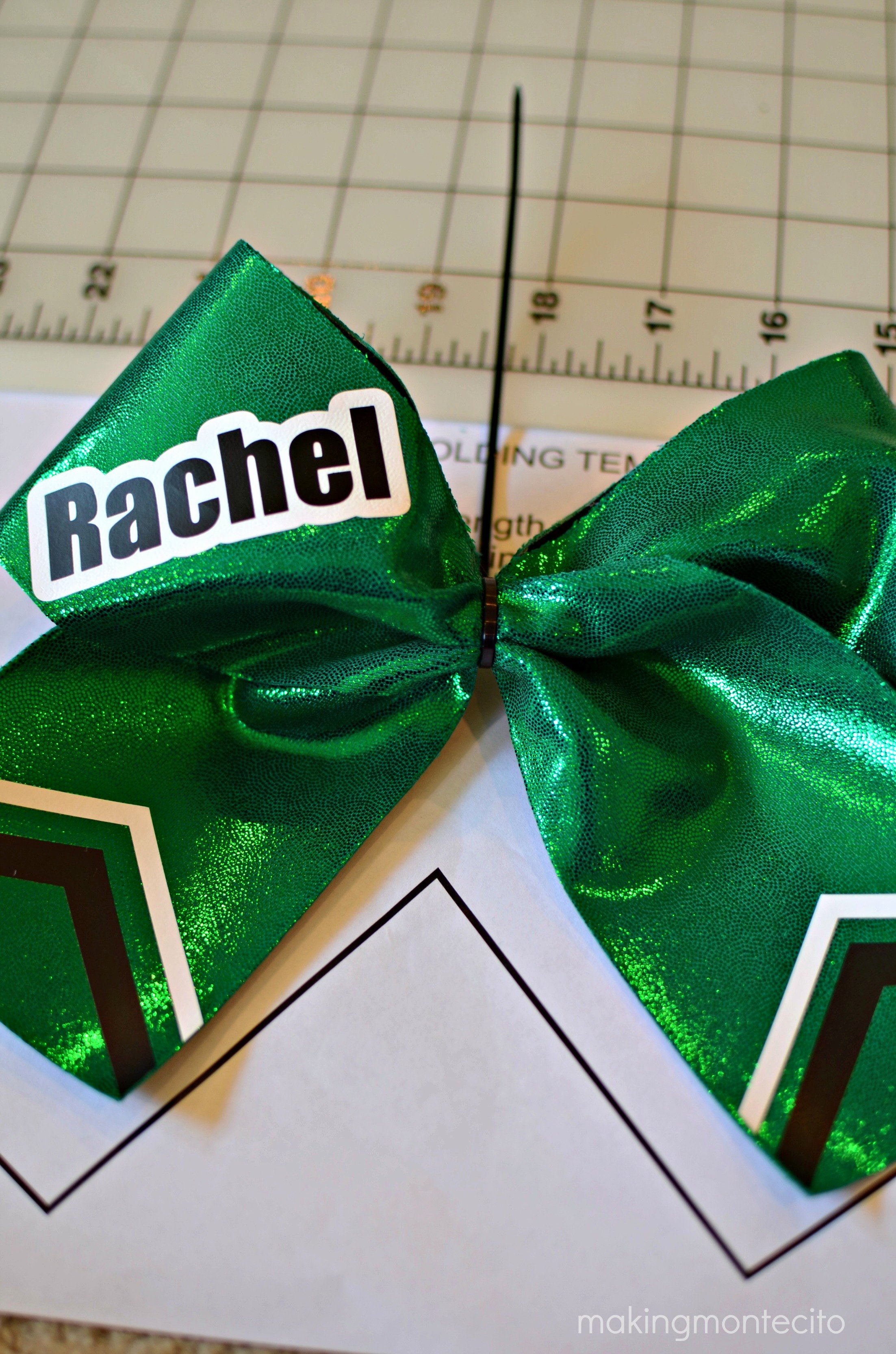 Cheer Bow Design Template Fresh Diy Sparkly Spandex Cheer Bow Making Montecito