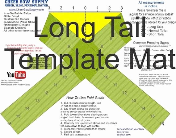 Cheer Bow Design Template Inspirational Cheer Bow Supply How to Make A Cheer Bow Long Tail 2 25