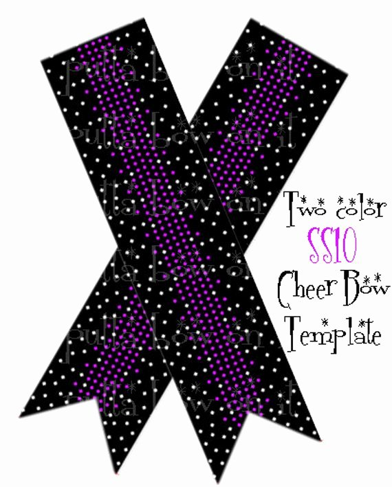 Cheer Bow Design Template Lovely Two Color Rhinestone Cheer Bow Template
