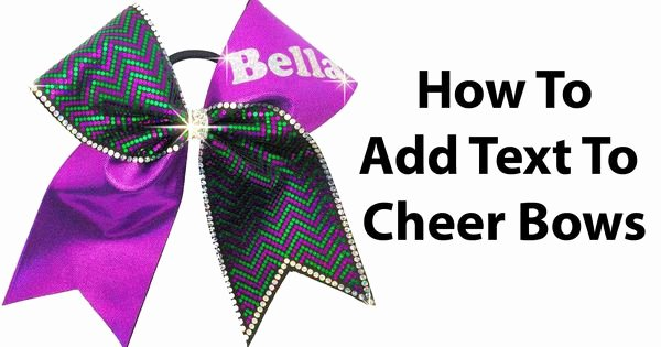 Cheer Bow Template Mat Inspirational Cheer Bow Tutorial How to Add Names In Glitter