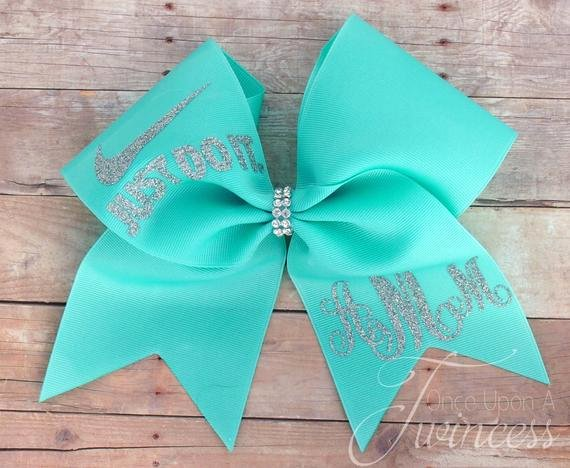 Cheer Bow Template Mat Luxury Cheer Bow Aqua Cheer Bow Monogram Cheer Bow by