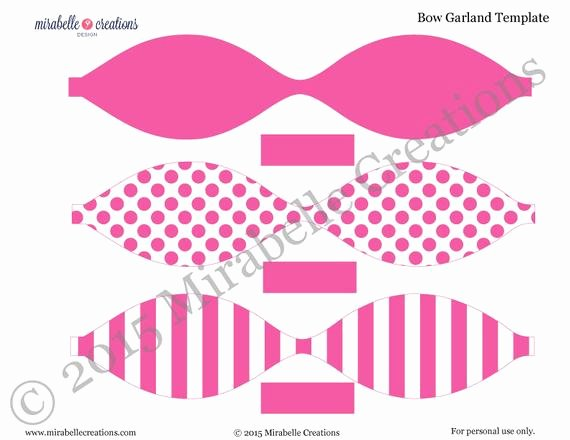 Cheer Bow Template Mat Luxury Preppy Bow & Stripes Digital Printable Party Collection